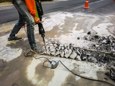 driveway concrete asphalt removal