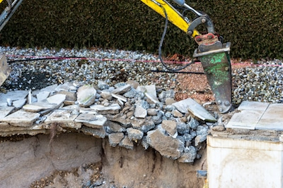 building demolition concrete removal